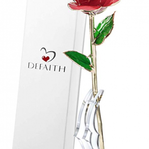 DEFAITH Real Rose 24K Gold Dipped