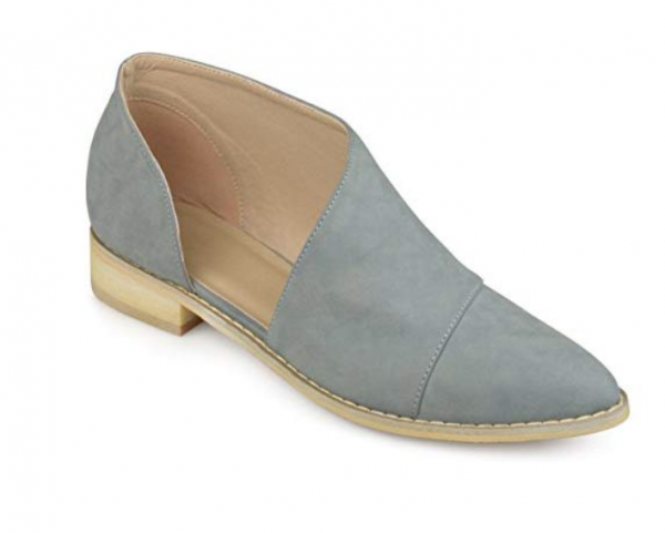 Journee Collection Womens D'Orsay Almond Toe Flats