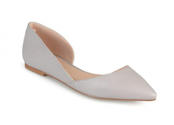 Journee Collection Womens Regular and Wide Width Pointed Toe Cut-Out Flat