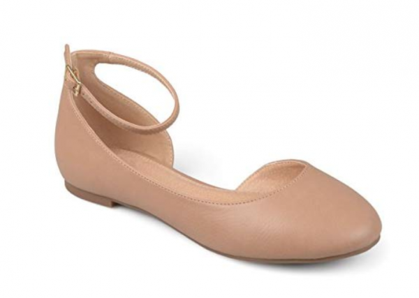 Journee Collection Womens Wide Width D'Orsay Ankle Strap Round Toe Flats