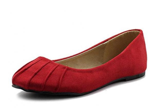 Ollio Women's Ballet Shoe Comfort Faux Suede Flat