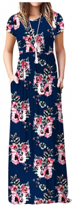 3-flower-navy Blue