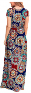 Color: 4-round Flower-navy Blue